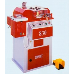 Машина для дублирования, обрезания краев, закругления и полирования краев ремней и других изделий Omac модели 830 и 835