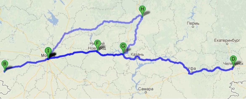 6500 километров в пути