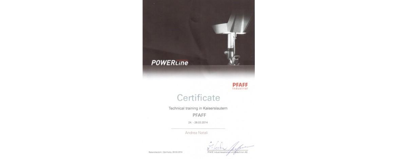 Сертификат технического обслуживания PFAFF