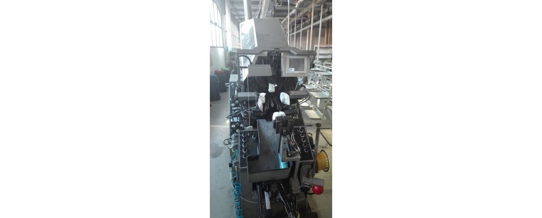 Восстановленная программируемая машина затяжки носочно-пучковой части на термоклей с 9 клещами CERIM K78 TP